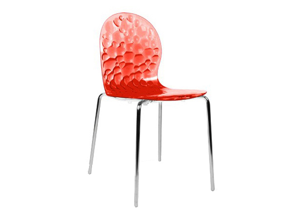 Chaise transparent en - Chaise rouge transparente ...