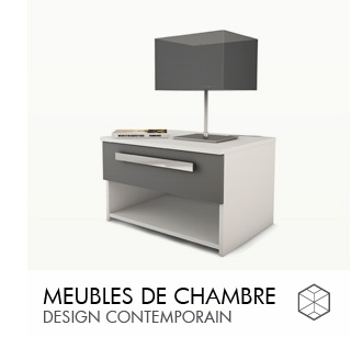Meubles de chambre design contemporain