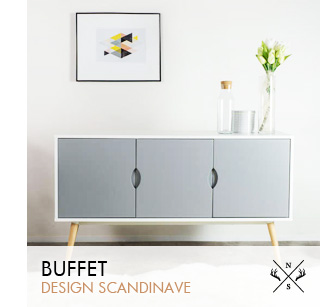 Meuble scandinave mobilier design et contemporain achatdesign - Buffet design scandinave ...