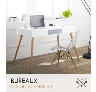 Meuble scandinave mobilier design et contemporain for Meuble bureau scandinave