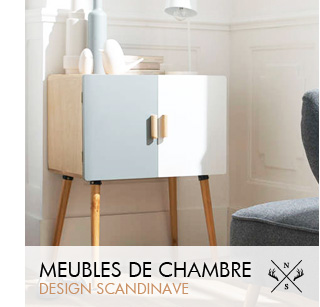 Meuble scandinave mobilier design et contemporain achatdesign - Meuble chambre design ...