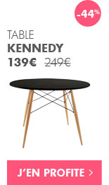 Soldes : Table Kennedy