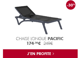Soldes : Chaise longue Pacific
