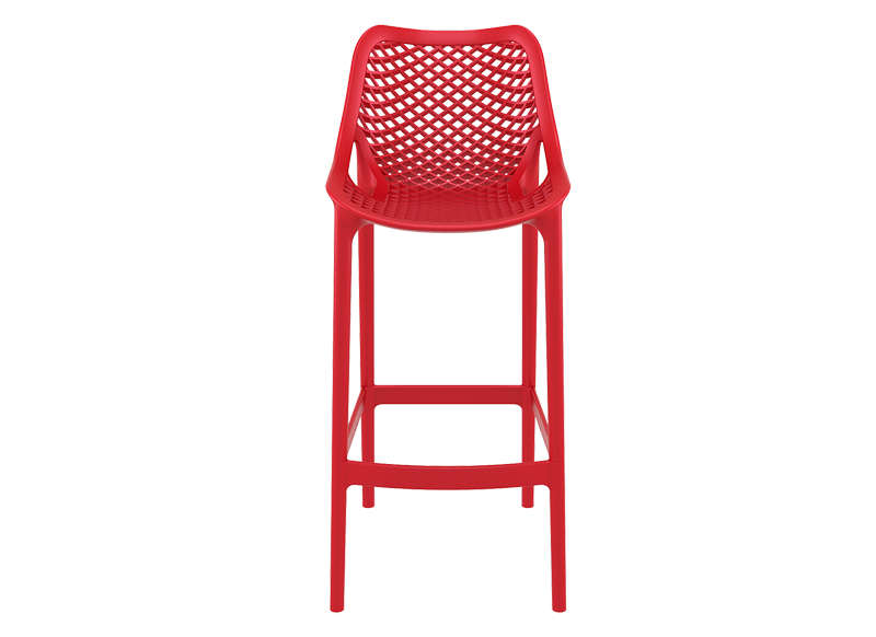 TABOURET POLYPROPYLENE Rouge AIR XL