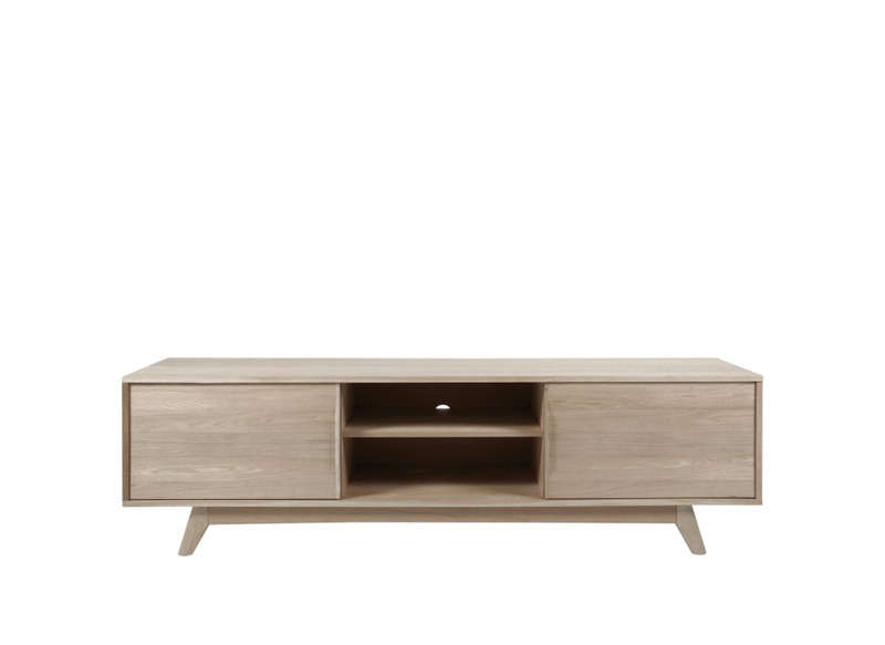 Meuble tv scandinave achatdesign for Meuble tv suspendu bois