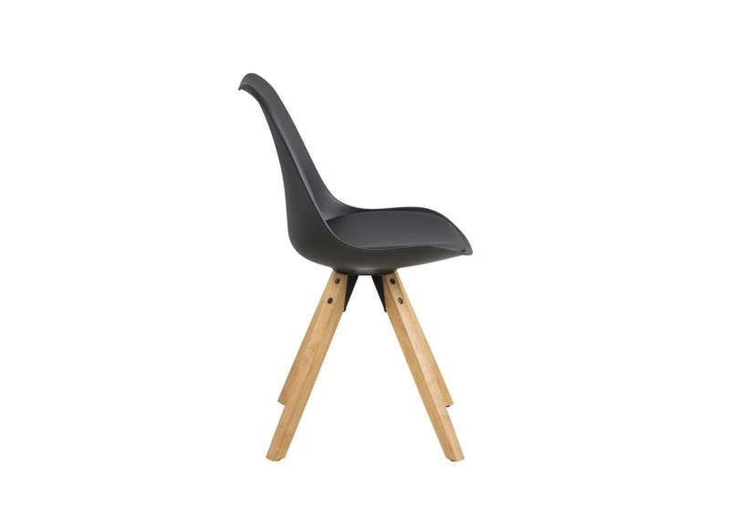 chaise design noir diba - Chaise Scandinave Noir