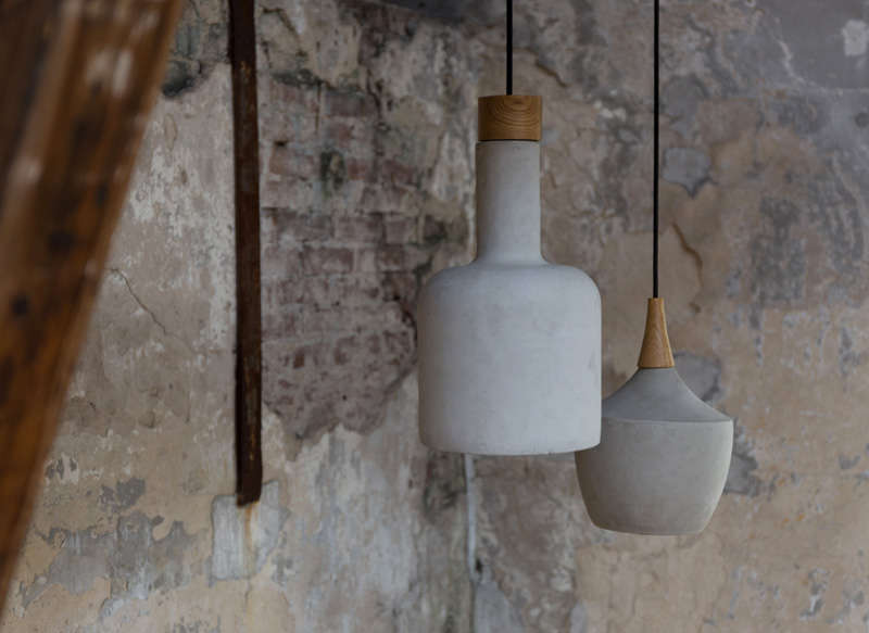 SUSPENSION BETON Gris clair CRADLE