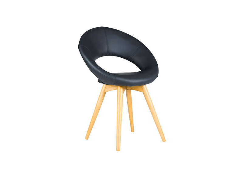 Chaise design Noir ROLL