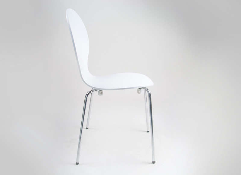 Chaise empilable galbée Blanc SEDIA