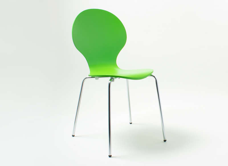 Chaise empilable galbée Vert SEDIA