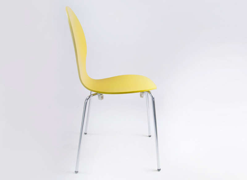 Chaise empilable galbée Jaune SEDIA