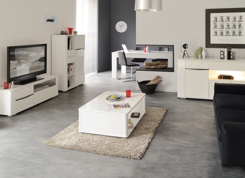 Table basse laqu e bercy - Table basse laquee blanc ...