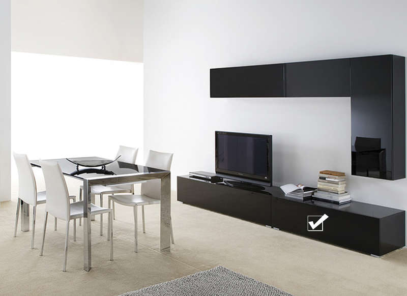 Banc tv laqu design 120 cm zita achatdesign - Meuble tv marron laque ...