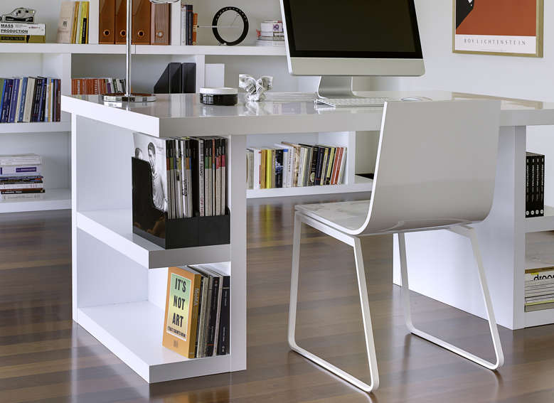 bureau avec rangements int gr s achatdesign. Black Bedroom Furniture Sets. Home Design Ideas