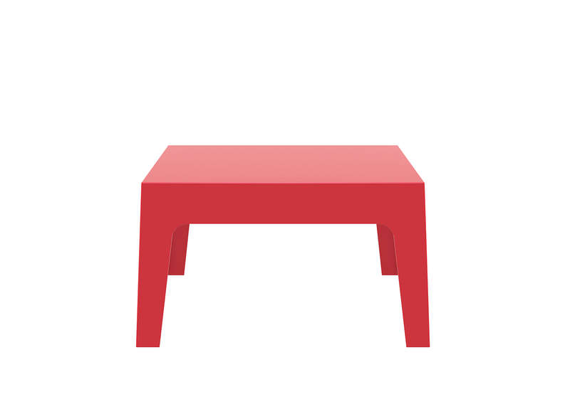 Table basse de jardin rouge - Table basse design rouge ...