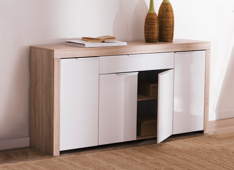 Buffet 4 portes contemporain achatdesign - Buffet contemporain design ...
