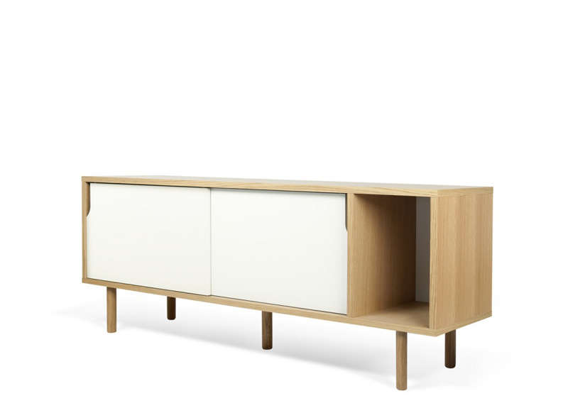 Meuble tv scandinave blanc dann ch ne for Meuble bureau scandinave