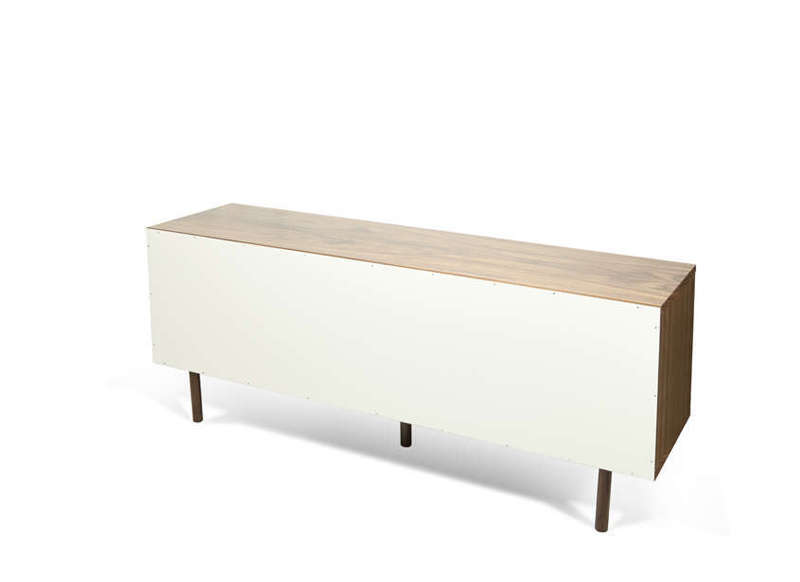 Meuble tv scandinave blanc dann ch ne for Meuble tv banc bois