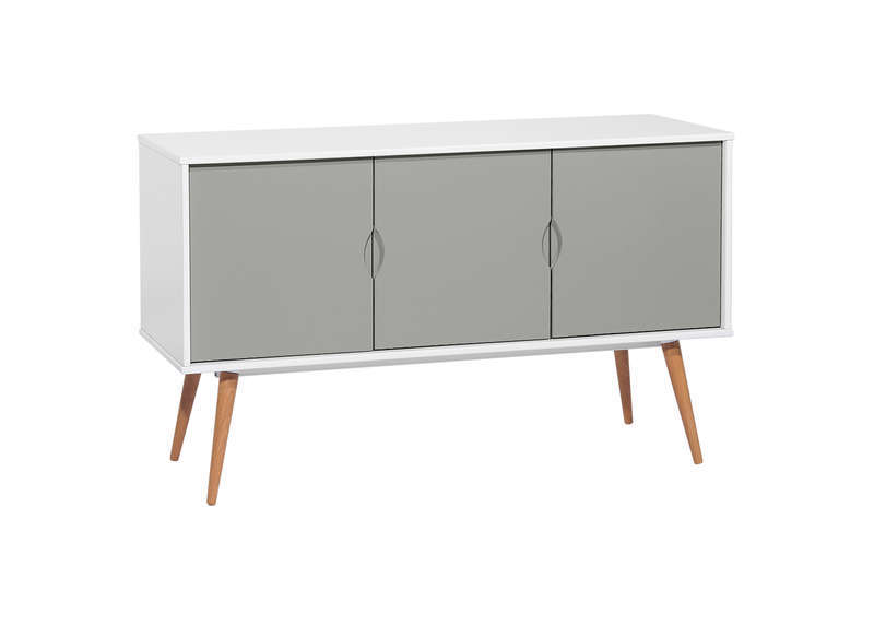 Buffet de rangement blanc kennedy buffet - Buffet design scandinave ...