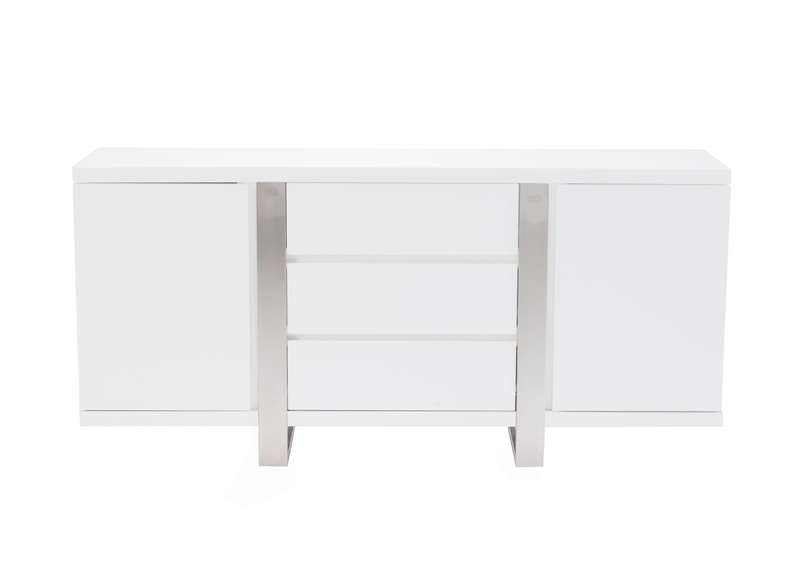 Buffet blanc laqu design blanc napoli laque - Buffet blanc laque design ...