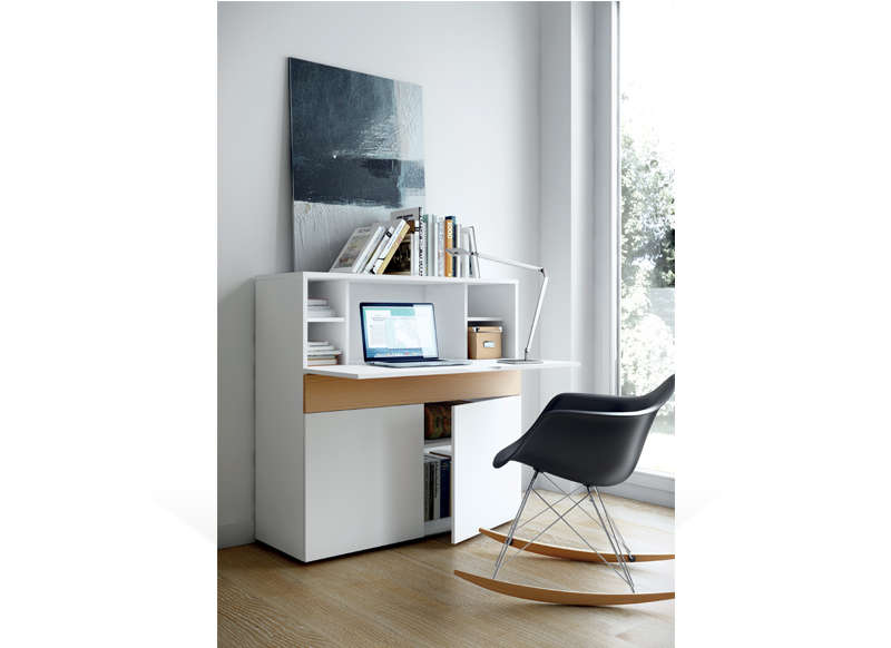 Bureau r tractable design achatdesign for Meuble bureau escamotable