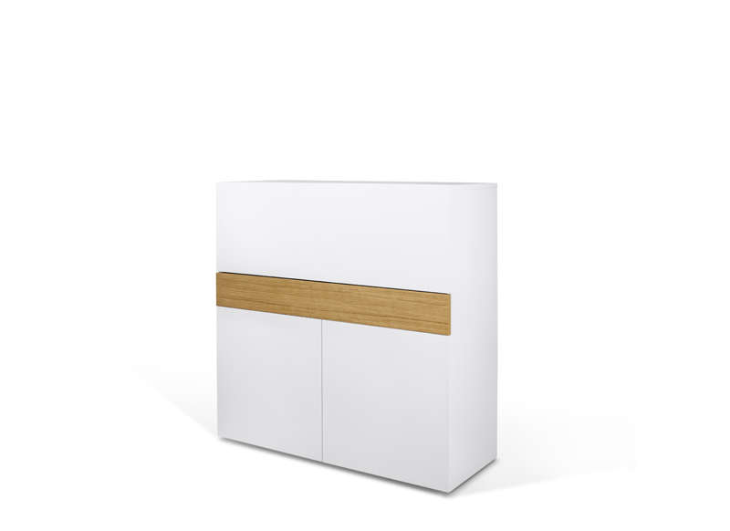 Bureau rétractable design Blanc FOCUS