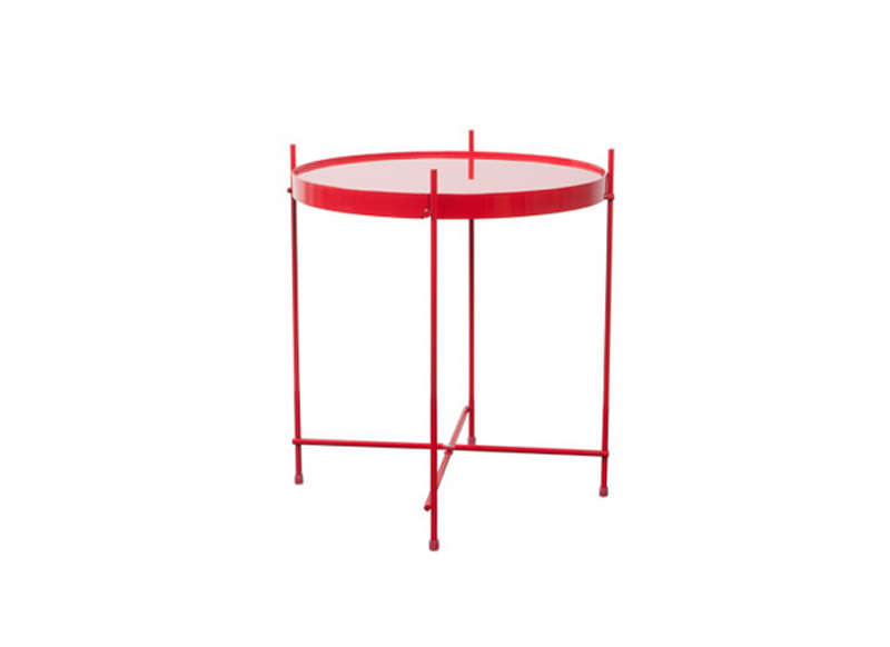 Table basse ronde rouge capri - Table basse ronde rouge ...