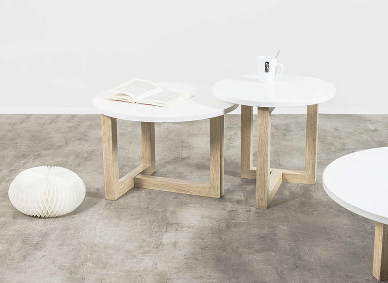Table basse ronde scandinave achatdesign - Table basse ronde scandinave ...