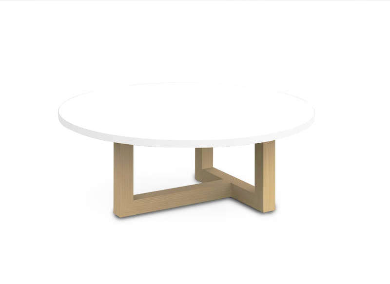 Table basse scandinave ronde Blanc COPENHAGUE 80
