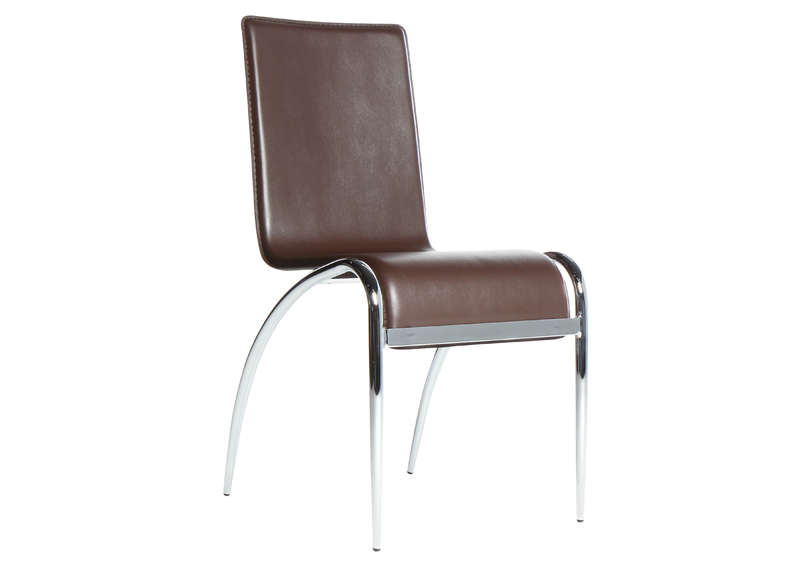 Chaise discount design marron ballarat - Destockage chaise design ...