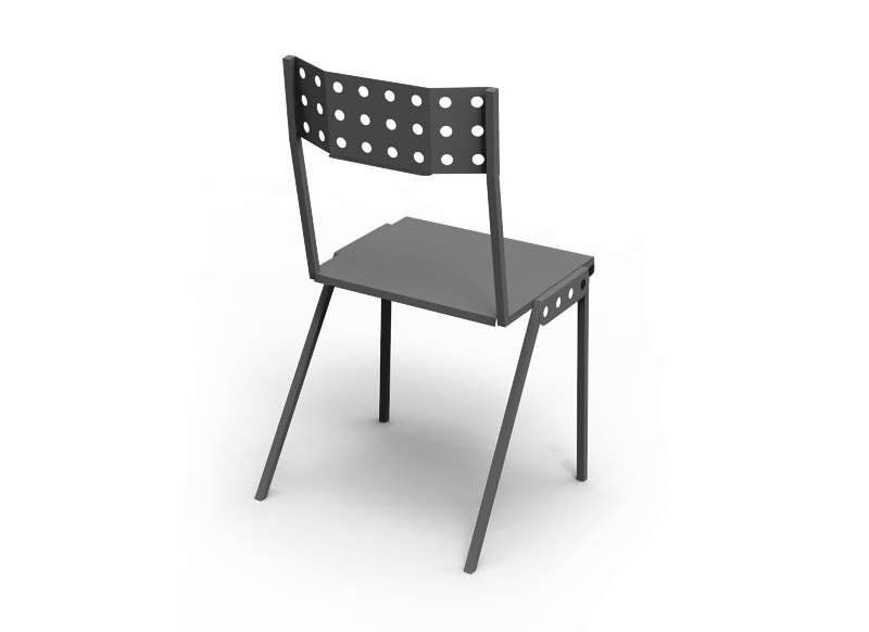 CHAISE BISTROT MECANNO Noir MECCANO CHAISE BISTROT