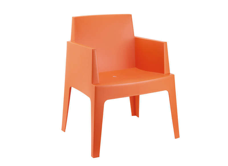 Lot chaise de jardin design Orange ICE