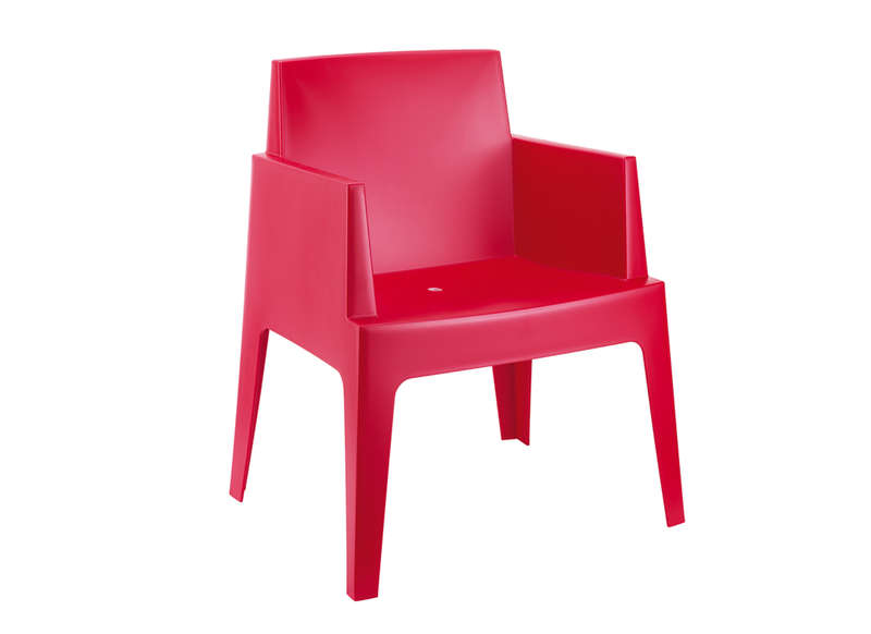 Lot Chaise De Jardin Design Rouge ICE