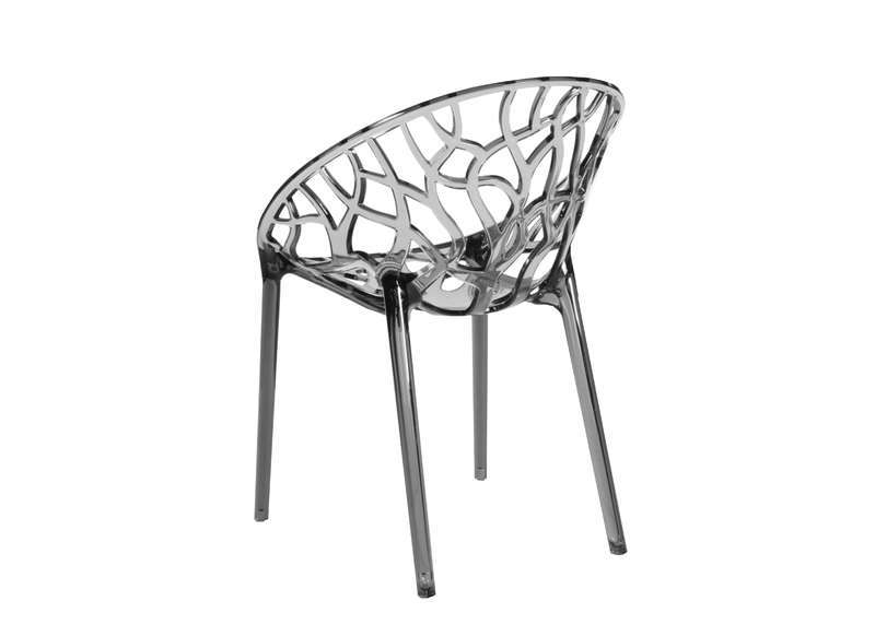 Chaise design en plastique Gris clair CRYSTAL