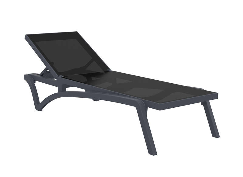 chaise longue de jardin en tissu synth tique pacific achatdesign. Black Bedroom Furniture Sets. Home Design Ideas
