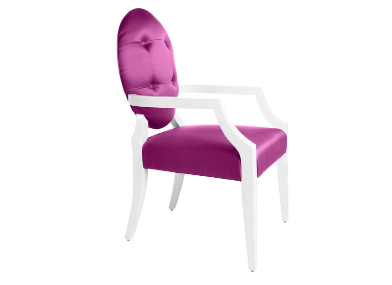Chaise baroque m daillon rose opera - Chaise baroque rose ...