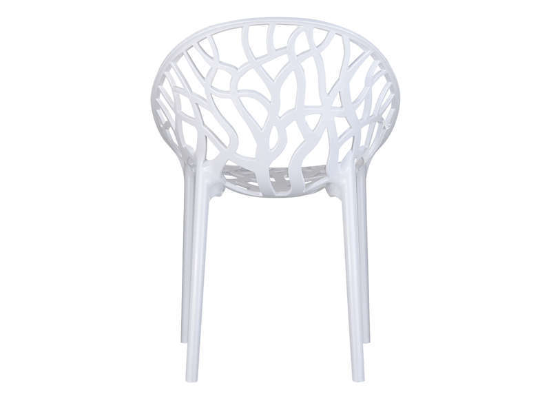 Chaise design en plastique Blanc CRYSTAL
