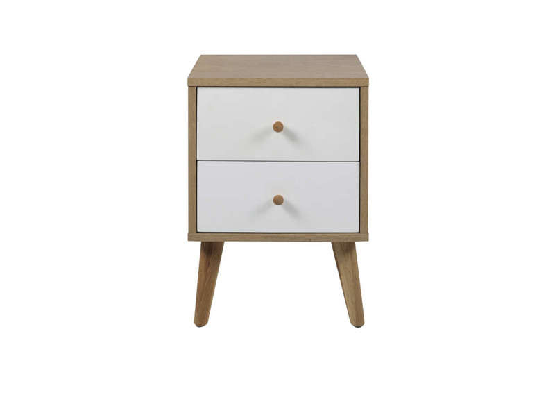 Chevet scandinave 2 tiroirs oslo - Tabouret table de chevet ...