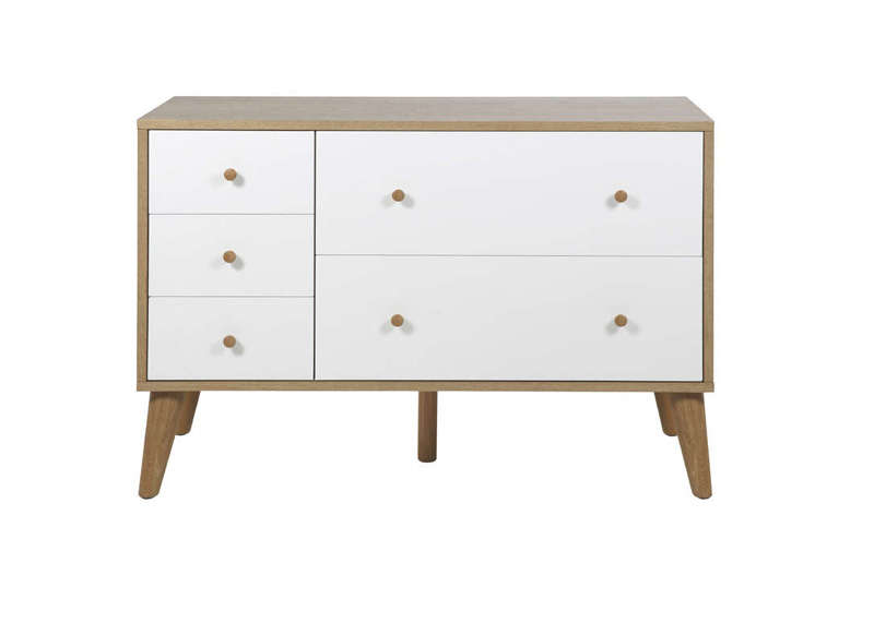 commode blanche scandinave