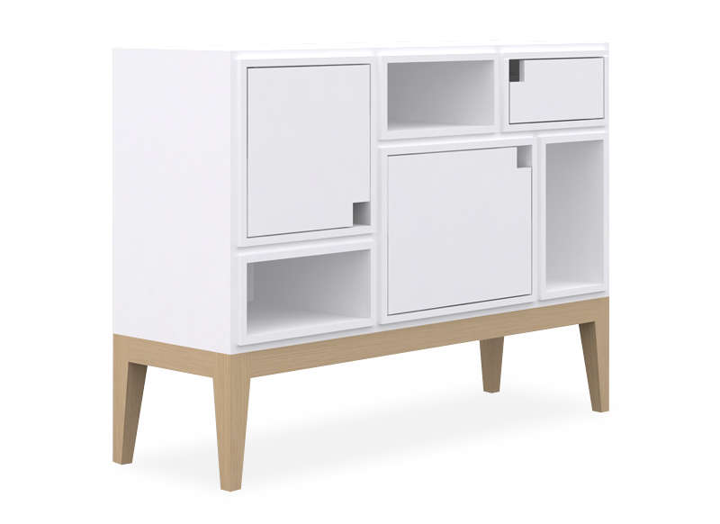 copenhague buffet scandinave blanc. Black Bedroom Furniture Sets. Home Design Ideas