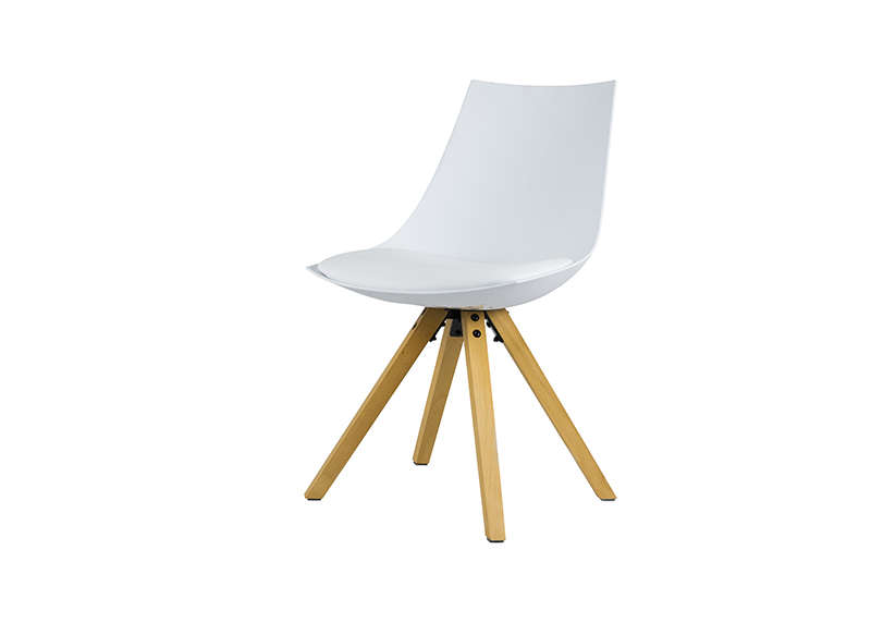 LOT 2 CHAISES SCANDINAVES Blanc MILAN