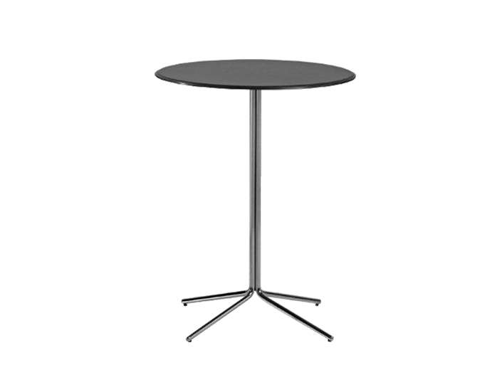 Table haute bar noire eiffel for Table de dessin architecte
