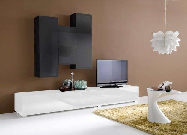 ensemble tv suspendu laqué design elegance :: achatdesign - Meuble Tele Suspendu Design