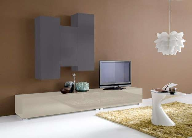 Ensemble tv mural design Cappuccino ELEGANCE