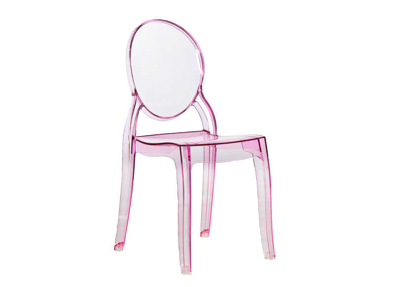 Elizabeth chaise m daillon transparente rose - Chaise transparente elizabeth ...