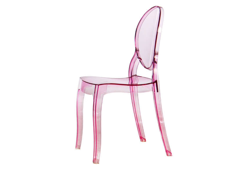 Chaise rose transparente
