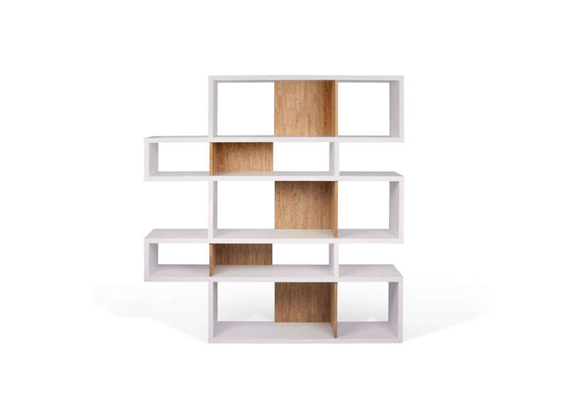 biblioth que design blanc london 3 rang es. Black Bedroom Furniture Sets. Home Design Ideas