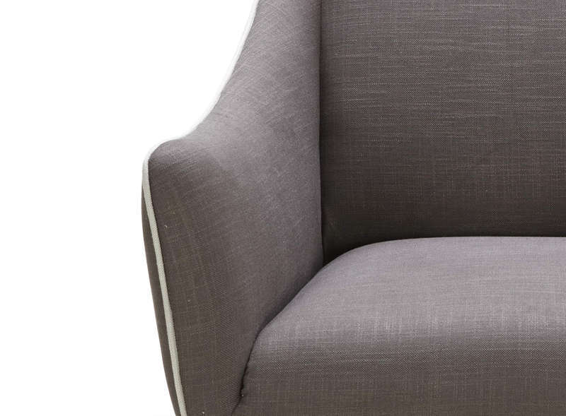 Fauteuil en tissu Taupe OSWALD