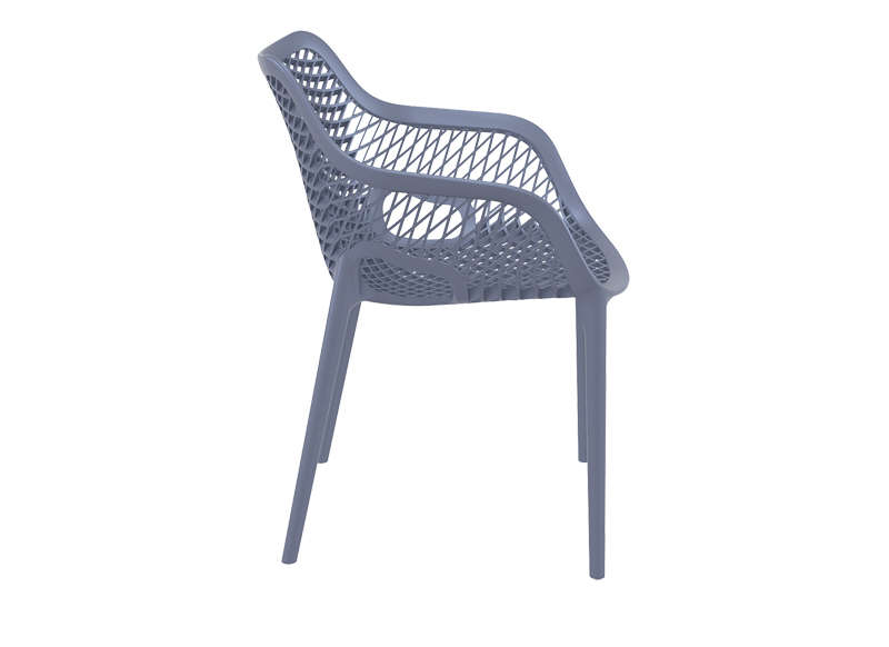 Chaise De Jardin Design Gris Fonce AIR XL