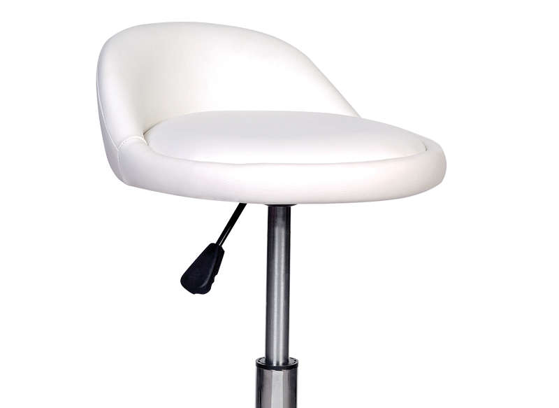 TABOURET A ROULETTES Blanc BRAY